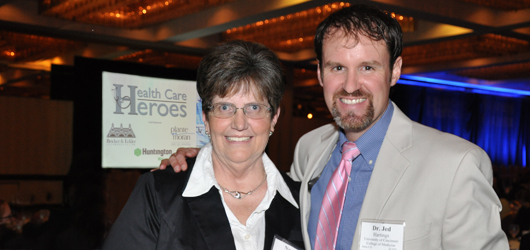 Nancy McMahon, RN, and Jed Hartings, PhD