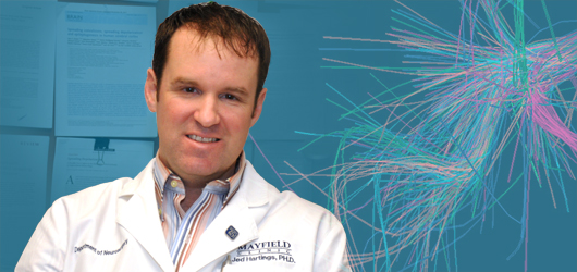 Photo of Jed Hartings, PhD, by Cindy Starr & Tonya Hines / Mayfield Clinic.