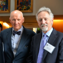 International experts on trigeminal neuralgia: John M. Tew, MD, left, and Mayfield Lecturer Kim Burchiel, MD.