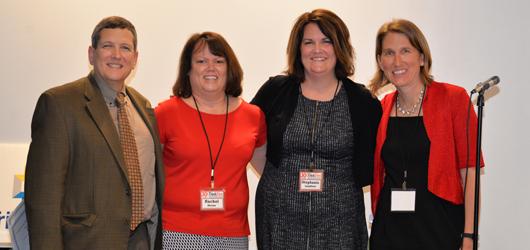 From left, Dr. Dale Horne, Rachel Horne, Stephanie Lambers and Krista Jones.